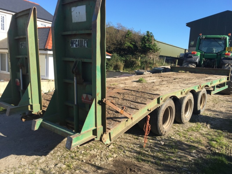 McCauley Tri Axle Low Loader for sale at PGF Agri, Anglesey, North Wales